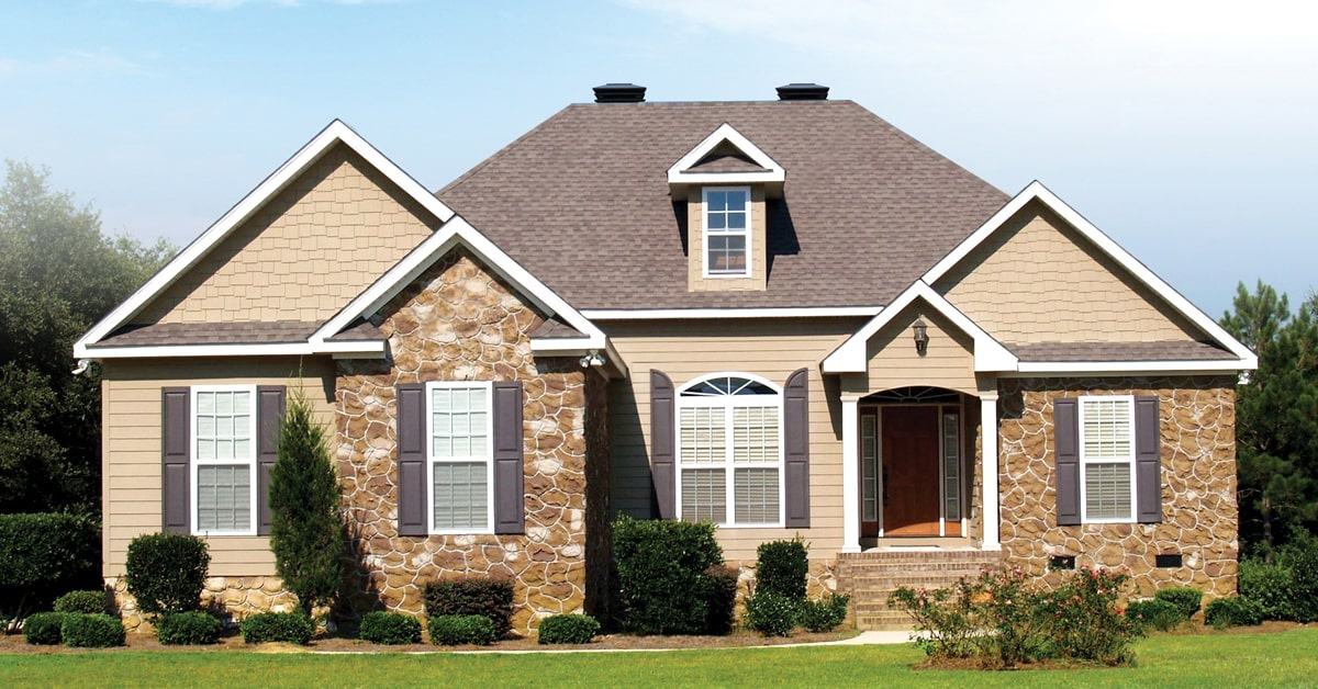 attractive looking home with matching vents