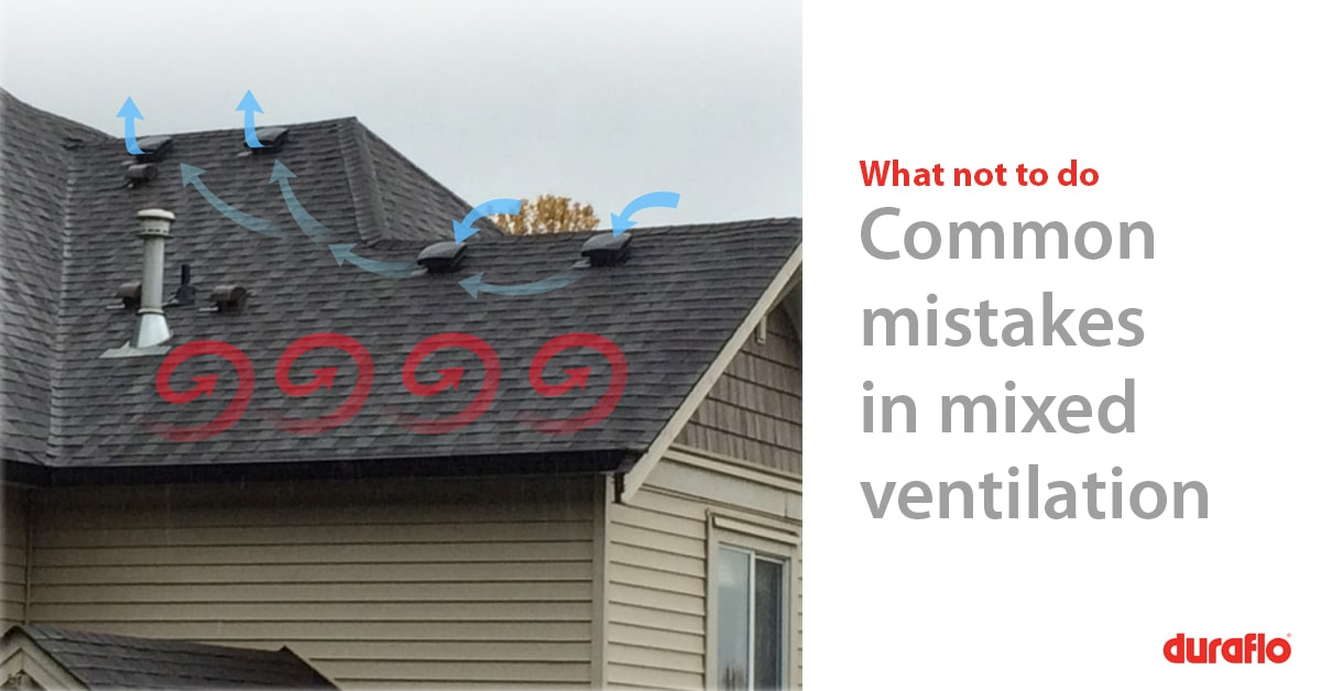 Poor airflow in house due to using mixed vents - uncirculated air from soffits