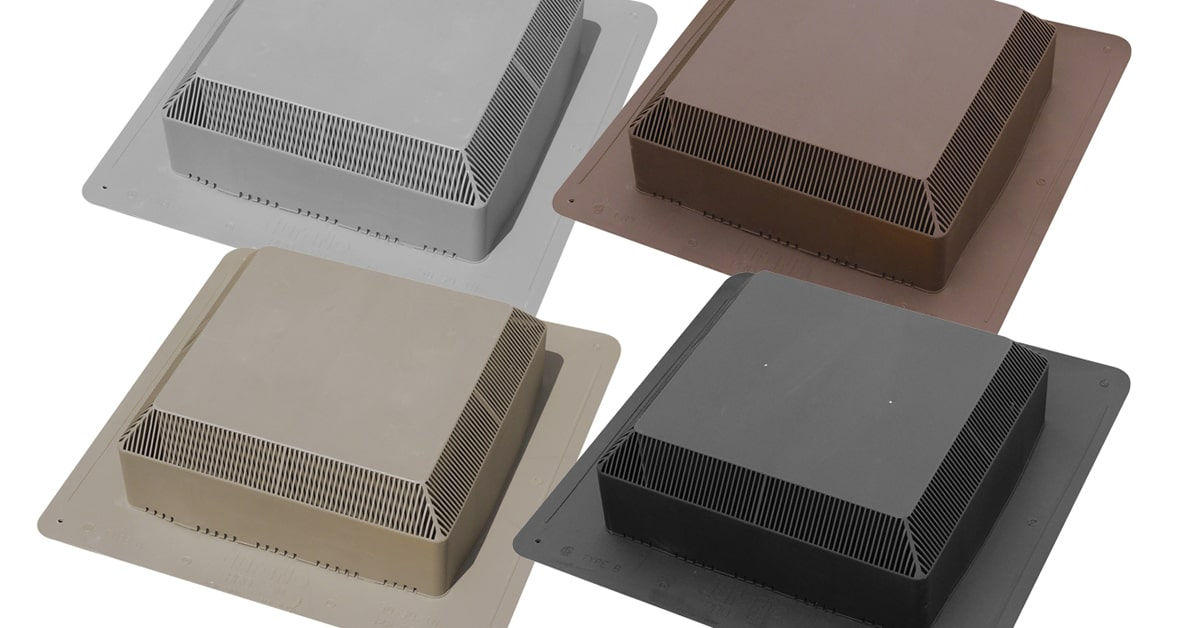 WeatherPRO 6050 square top roof vents available in four colours