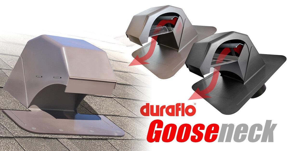 Duraflo Gooseneck exhaust and dryer vents