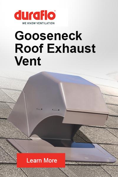WeatherPRO Gooseneck Exhaust Vent Side Banner