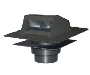 Bathroom Exhaust Vent with Flapper & Unattached Collar