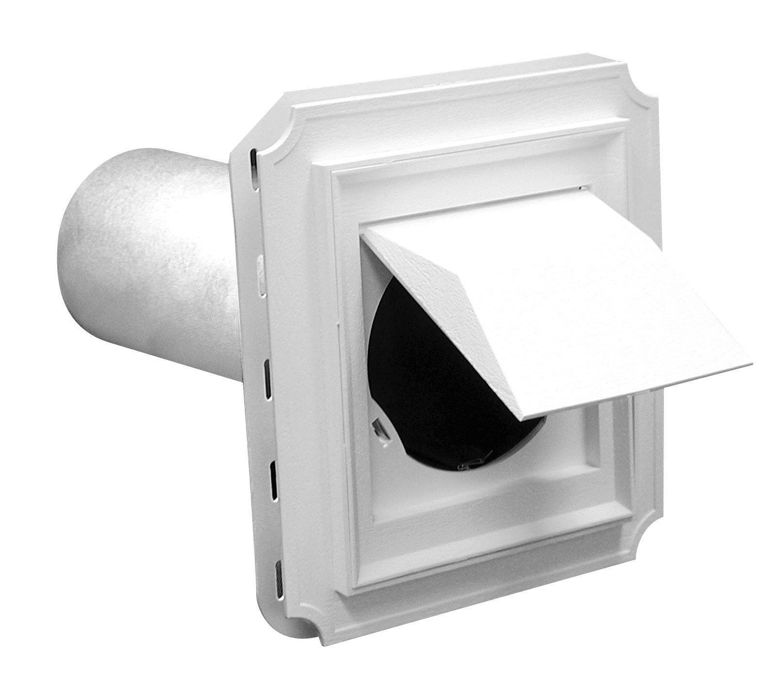 6-Inch Duraflo 646010-00 Wall Vent White