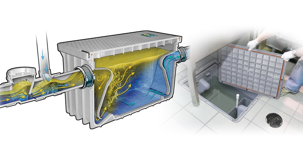 Endura grease interceptor cutaway 7-50 GPM