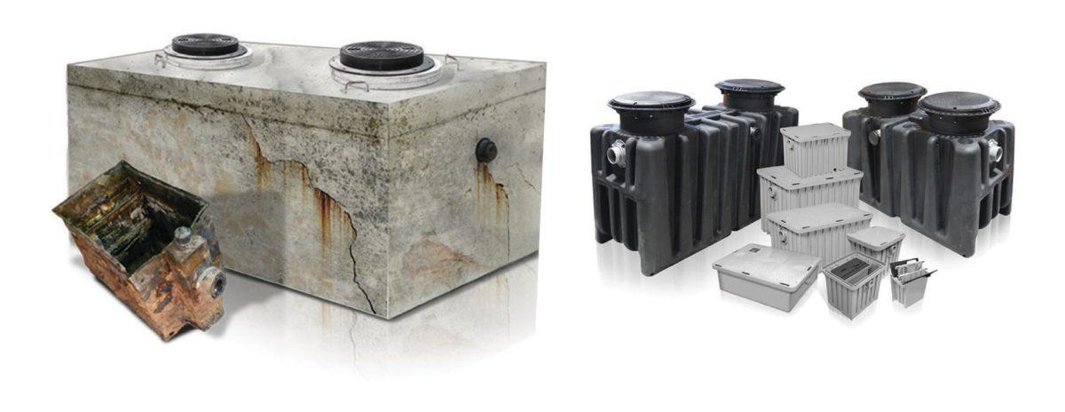 gravity grease interceptor vs. hydromechanical grease interceptor