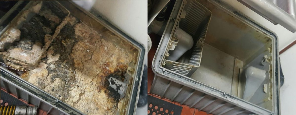 grease interceptor maintenance and cleaning before and after
