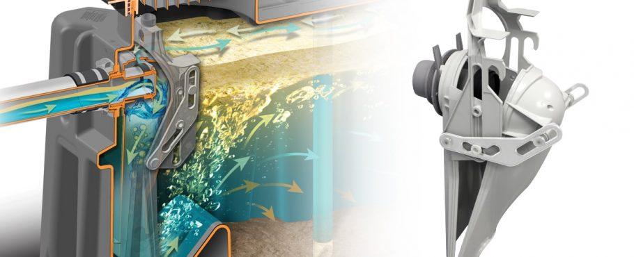 Endura's dynamic inlet baffle for grease interceptor